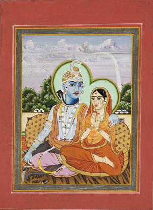 Siva Ganghadara with Parvati