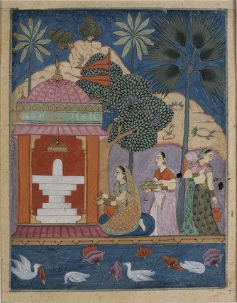 Bhairavi ragini, from a ragamala series