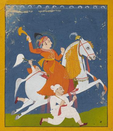 Equestrian portrait of Maharana Bhim Singh of Mewar