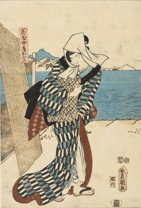 Woman on the sea shore