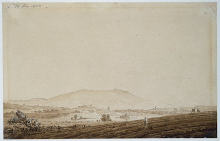 Landscape in Bohemia with a View of Mount Jeschken