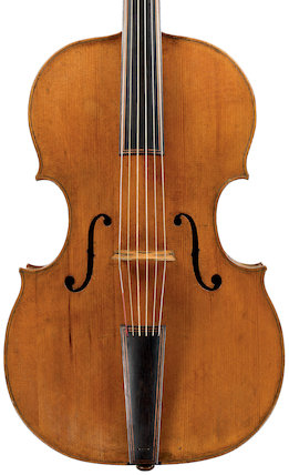 Bass viol with certain features of a cello, 1611