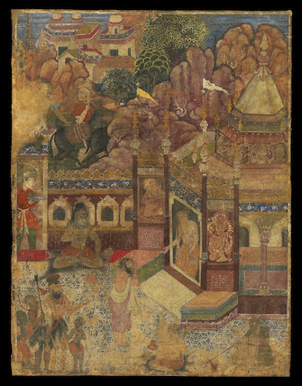A supplicant at a Hindu temple