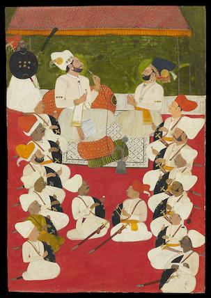 Rathor noblemen in durbar