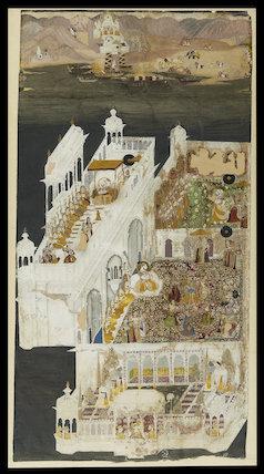 Maharana Jagat Singh and his queens at Jagniwas