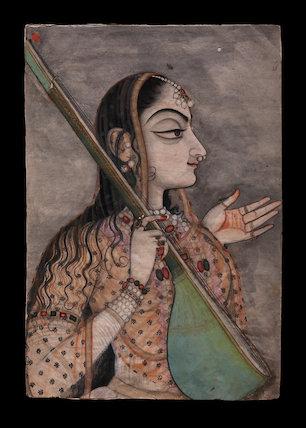 A lady singing