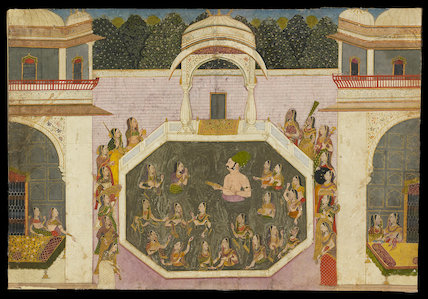 Maharaja Vijai Singh bathes with his ladies, c. 1760