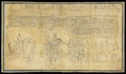 Prince Azam Shah enters Ahmedabad, 1701