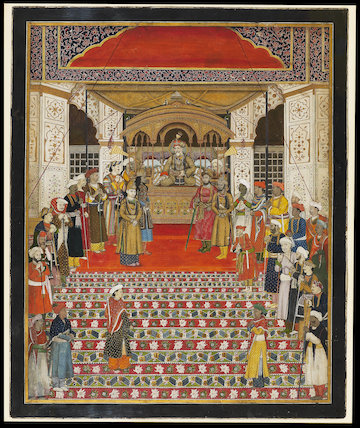 Durbar of Emperor Akbar Shah II