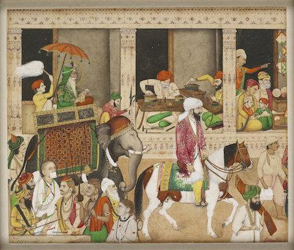 Maharaja Ranjit Singh in a bazaar