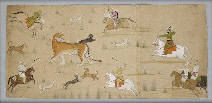 Maharaja Balwant Singh hunts a tiger