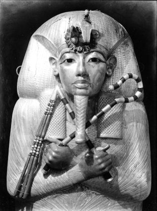 The (first) outermost gilded coffin of Tutankhamun
