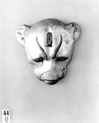Wooden leopard head