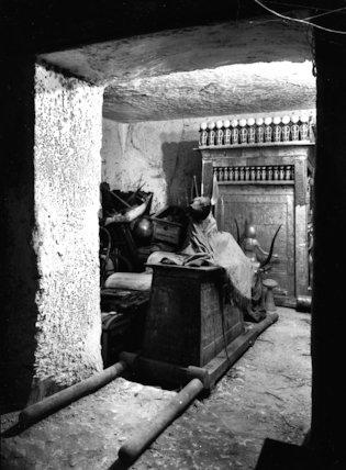 The portable Anubis jackal shrine of Tutankhamun