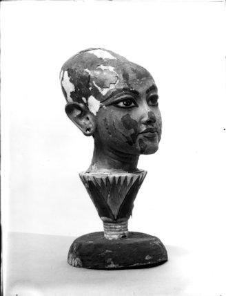 Wooden head of Tutankhamun