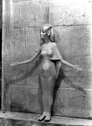 Gilded wooden statue of Isis