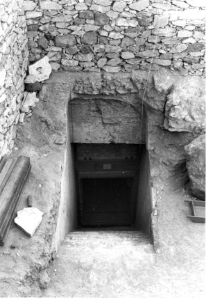 Entrance to the tomb of Tutankhamun