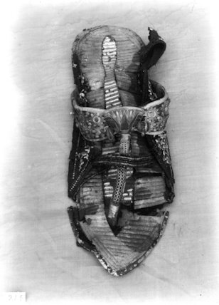Tutankhamun's sandal decorated with gold found in box 21