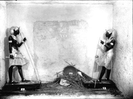 Tutankhamun's 'sentinel' statues