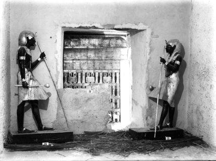 A glimpse of Tutankhamun's outermost funerary shrine