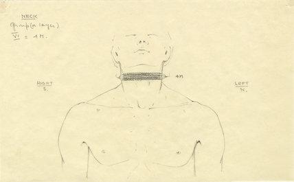 Beaded collar on Tutankhamun's mummy