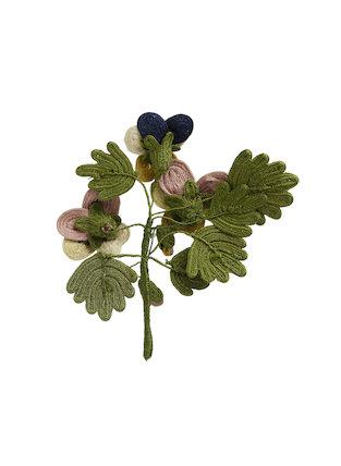 Needlework favour or love token: Pansies