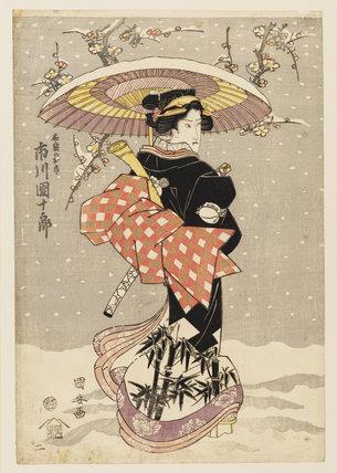 Woodblock print  - The actor, Onoe Kikugoro, as a woman