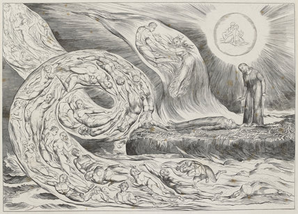 The Circle of the Lustful: Francesca da Rimini ('The Whirlwind of Lovers'), from Illustrations to Dante's 'Divine Comedy'