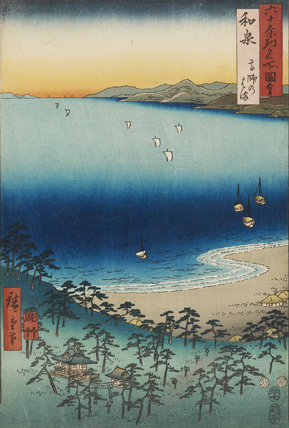 Woodblock print - Izumi Province, Takashi Coast