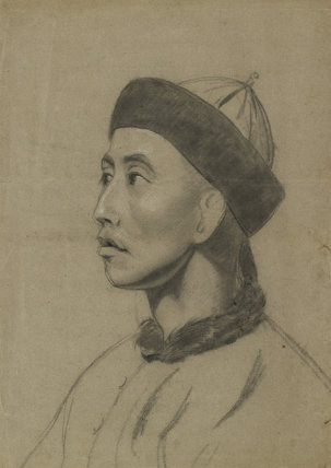 Recto: Tan-Che-Qua, 'Chitqua', RA, Chinese Artist