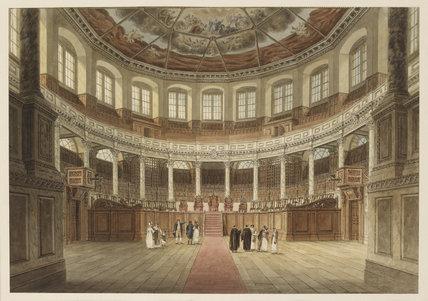 The Sheldonian Theatre, Oxford: Oxford Almanack for 1820