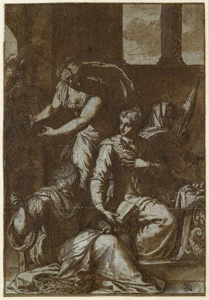 Lucrece among her Handmaidens