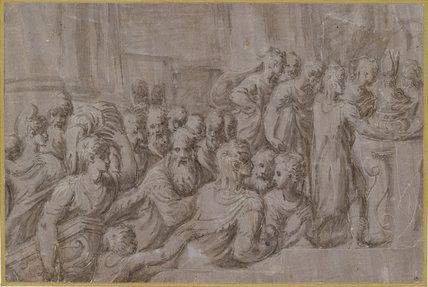Scene in a Temple