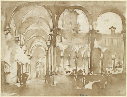 Recto: A Venetian Cloister Verso: Slight architectural Indications