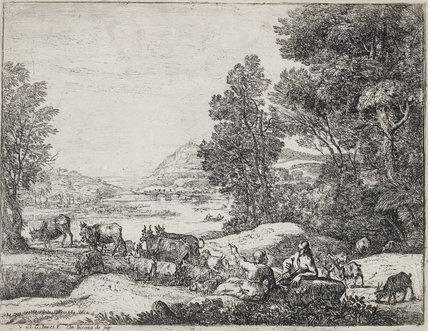Shepherd and Shepherdess Conversing in a Landscape