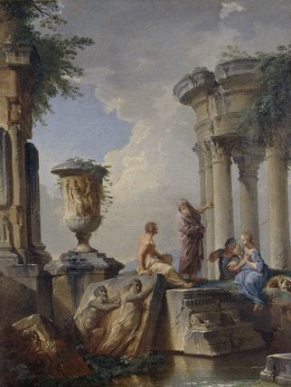 Ruins with Prophet and other Figures