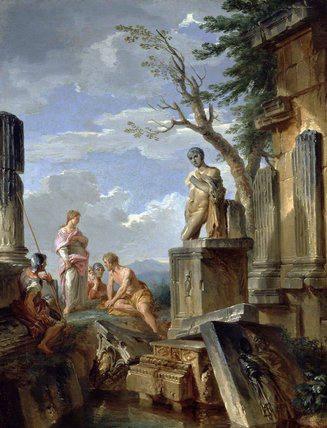 Ruins with Sibyl and other Figures