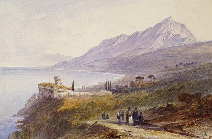 The Monastery of Stavronikita, Mount Athos, 1872