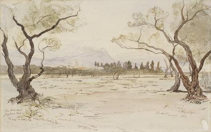 Near Konea (Gonia), Crete, 1864