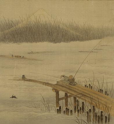 Fisherman on a pier