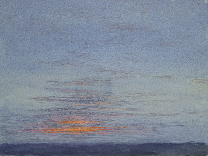 Study of Dawn: the first Scarlet on the Clouds, Denmark Hill, March 1868