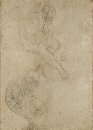 Verso: Two Studies of an elderly Man