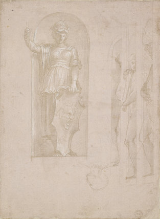 Study for Minerva and other figures
