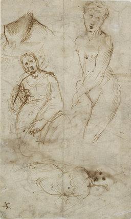 Verso: Various Studies