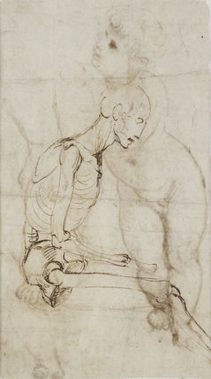 Verso: Study of a Skeleton
