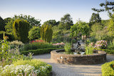 The Potager in summer at RHS Garden Rosemoor.