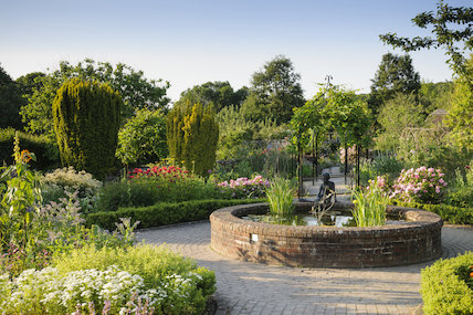 The Potager in summer at RHS Garden Rosemoor.